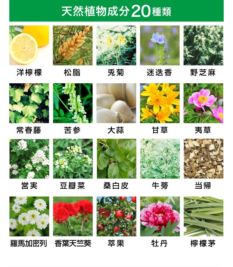天然成分20種類